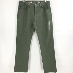 Gap 969 army green straight leg jeans